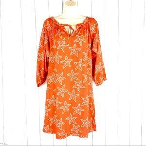👗 Escapada Beach orange seashell dress Small